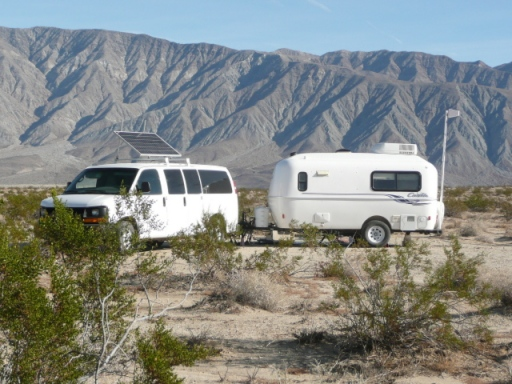 Peace reigns at our Anza Borrego campsite