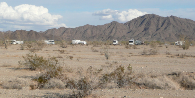 A group camped off Sidewinder Road