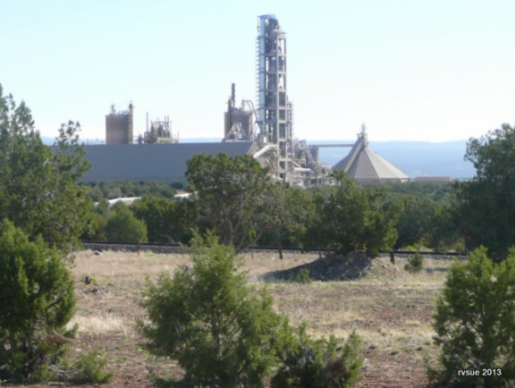 The cement plant is our only neighbor in the Prescott National Forest