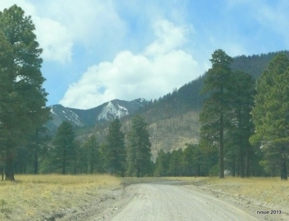 I took this pic through the windshield because a car passed us and kicked up dust.