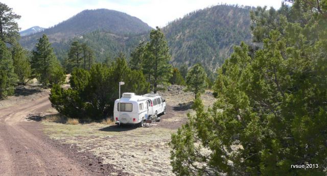 Our home at Sunset Crater Camp